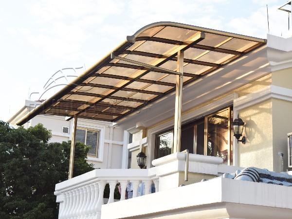 富诺尼华铝合金露台棚 阳台遮阳棚