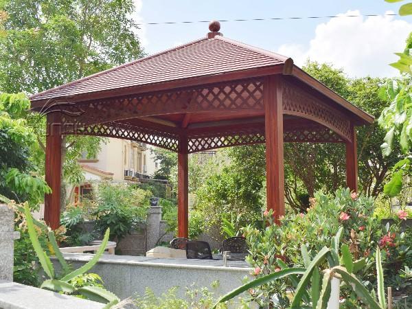 别墅花园庭院铝合金中式凉亭