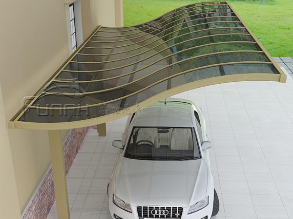 铝合金S型独立车棚